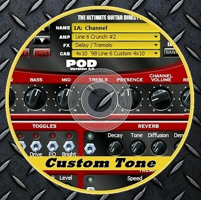 11.259 Patches Line6 POD 2.0 .Multi Effects Processor. Custom Tone