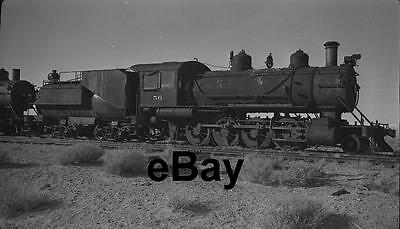 TONOPAH & GOLDFIELD No. 56 Steam Engine at Millers, Nevada in 1948 Orig Negative