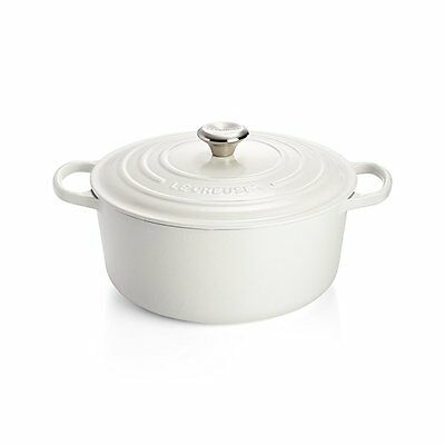 """Le Creuset 9 Qt Signature Round French Oven White """"new Factory Sealed"""""""