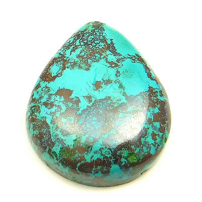 51.40 cts Natural Designer Untreated Azurite Gemstone Pears Shape Loose Cabochon