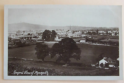 HARVEY BARTON RP Postcard POSTED 1909 GENERAL VIEW OF MONMOUTH MONMOUTHSHIRE