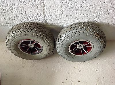 Rascal 329 LE Wheels and Tyres Back Pair 8mph