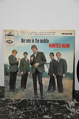 """Manfred Mann - The One In The Middle -  7"""" Vinyl  E.p. - 1965"""