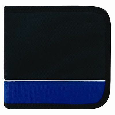 48 Disc CD / DVD Protective Various Colour Wallet Cover Case Black and Blue