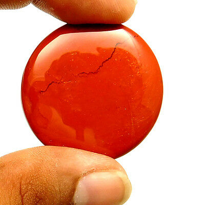 65.50 cts Natural Quality Red Jasper Cabochon Round Loose Gemstone For Jewelry