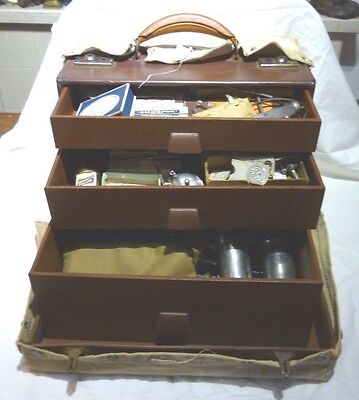 VINTAGE 1940/50's 90+pc DOCTORS MEDICAL SURGEONS FIELD KIT case by DOWN BRO's