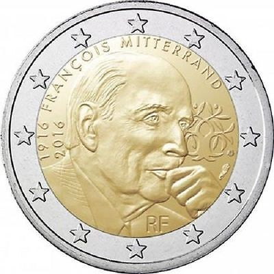 2 EUROS -FRANCIA 2016- 100º ANIVER. FRANCOIS MITTERRAND - S/C - Ya disponible