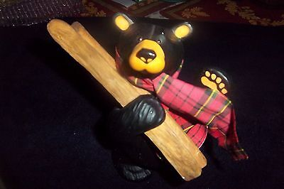 "Big Sky Carvers BEARFOOTS Skier Bear ""AL PINE"" Retired EXCELLENT CONDITION"