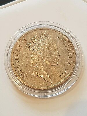 1988 proof $5 parliment house in capsule