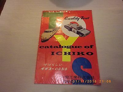 CATALOGUE OLD ORIGINAL OF ICHIKO LTD made JAPAN - TIN TOY CAR MOTORCYCLE TRUCK