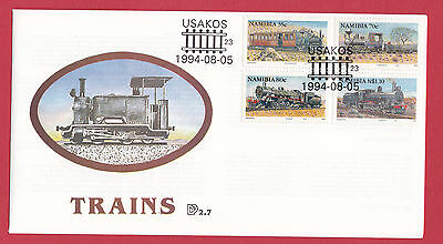 Namibia 1994 - Trains - USAKOS Handstamp..