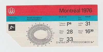 Orig.ticket    Olympic Games MONTREAL 1976 - Athletics 31.07.1976 / Last Day  !!
