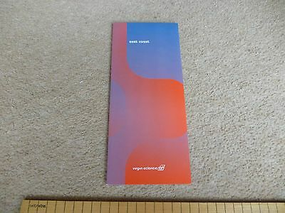 Virgin Atlantic Menu, East Coast USA, mint condition, approx 8 years old, mint