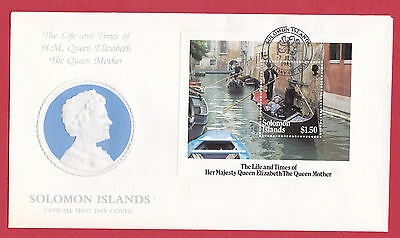 Solomon Islands 1985 - Queen Elizabeth the Queen Mother - Mini-sheet.