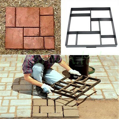 2Pcs DIY Driveway Paving Brick Patio Concrete Slabs Path Garden Walk Maker Mould