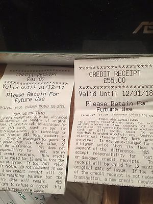 Marks And Spencer Credit Voucher(s) Worth 91.00