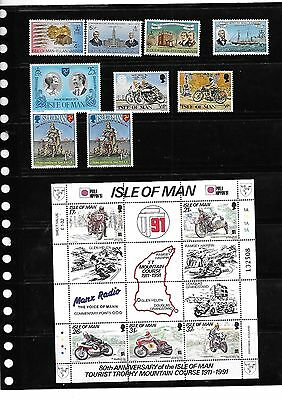 Isle of Man 1991 80th Anniversary of TT Mountain Course Sheet + 4 other sets