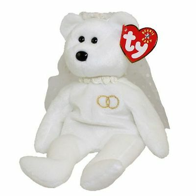 TY MRS the Bride Bear Original BEANIE BABY 2001 Retired MWMTs