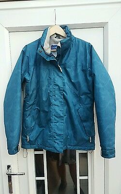 Ladies Women's Trespass Teal Ski Jacket size Meduim