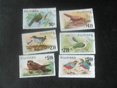 1979 Complete Set Of Used Bird Stamps From Philippines
