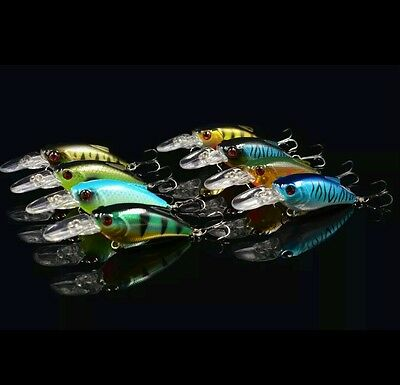8 rattling spinning plug lure bass pike perch chubby bubble fishing tackle hook