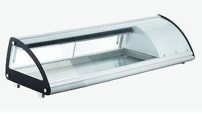 """OMCAN RS-CN-0043-SC 45"""" Refrigerated Curved Glass Sushi Display Case BRAND NEW!"""