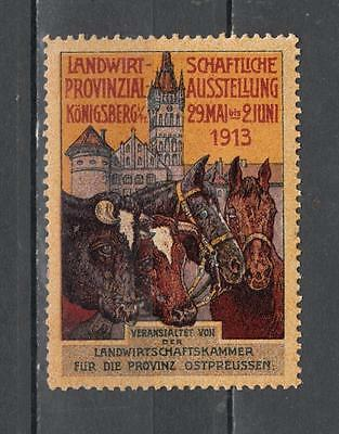 1913 Konigsberg Poster Stamp Unmounted Mint Full Gum Some Gum Discolour ( For Co