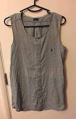 Vintage Ralph Lauren Reworked Checked Dress size Small 6/8/10
