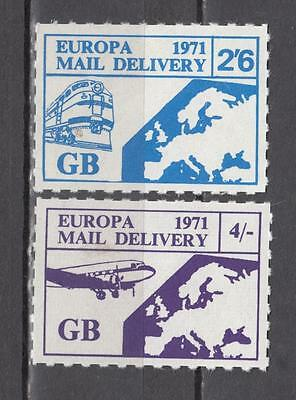 1971 Postal Strike Europa Mil Delivery 2s/6d + Europa Mil Delivery 4s Unmounted