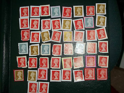 50 X 1st CLASS UNFRANKED STAMPS ON PAPER