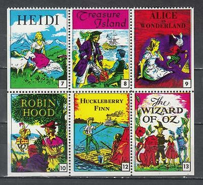 Block Of 6 Film Poster Stamps All Unmounted Mint Full Gum ( For Condition See Sc
