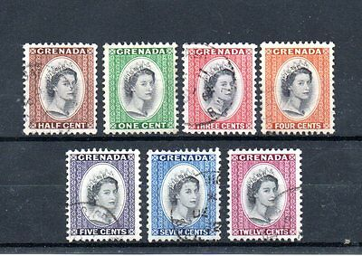 set of 7 used QEII stamps from grenada