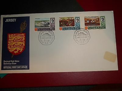 1971 3 Definitive First Day Cover From Jersey