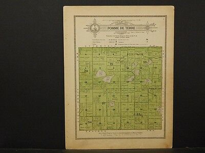 Minnesota, Grant County Map, 1914 Township of Pomme De Terre Y1#15