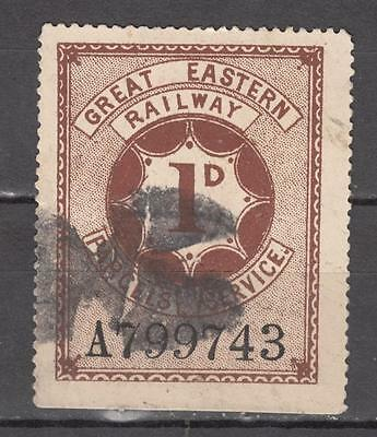 Great Eastern Railway 1d Parcels Service No A799743 Used ( For Condition See Sca