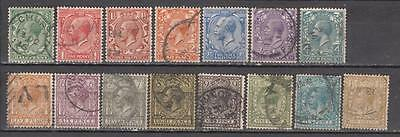 King George V 1912/24 Full Set One Of Each Value Sg 351 To 396 Cat £95+ All Used