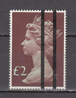 Queen Elizabeth ll £2 With Training Bars Sg 1027 Mint No Gum ( For Condition See