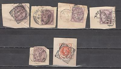 Queen Victoria On Part Envelops Dated From 1892 6 In Total Some Squared Circle C