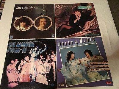 Lot of 4-  LP Record Albums Donny & Marie Osmond Marie Osmond The Osmonds Phase