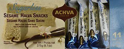 Halva Sesame ACHVA Kosher Sugar Free Tahini Snack 11 Mini Bars X 25 Gr New