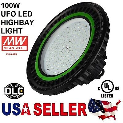 UFO 100W LED High Bay Light UL cUL DLC 12500LM MEANWELL IP65 PHILIPS LED OUTDOOR