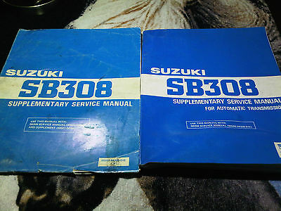 Suzuki SB308 SB308 Supplementary Service Manual for Automatic 1985 printed 1991