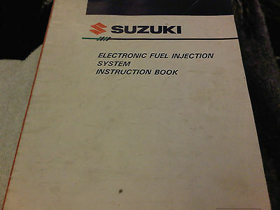 Suzuki Electronic Fuel Injection System Instruction Manual Book Vitara