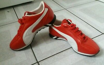Puma Sprint Trainers. Red Leather. Size Uk 3. Eur 35.5.
