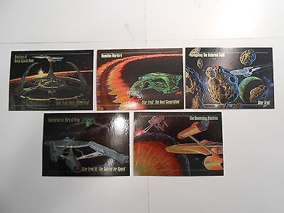 1993 SkyBox Star Trek Master Series!!! S1-S5 Spectra Chase Cards! Complete Set!!