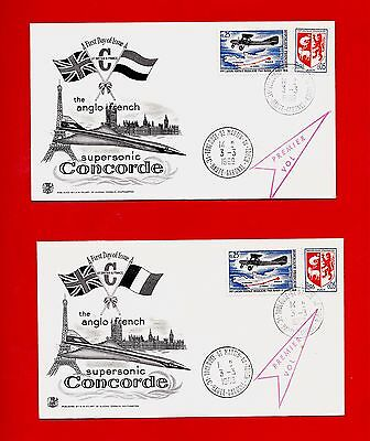 FDC-SUPERSONIC CONCORDE-TOULOUSE-SAINT MARTIN DU TOUCH-ANGLO FRENCH-1er VOL-1969