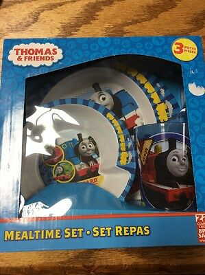 Thomas And Friends Mealtime Set By Zak. New. BPA Free Plate,bowl And Cup.  3 Pie