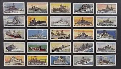 Ringtons Tea Cards - Ships Of The Royal Navy 1961 Complete Set Of 25