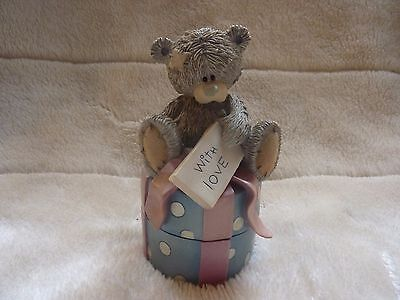 Me To You Tatty Teddy Figurine Trinket Box With Love