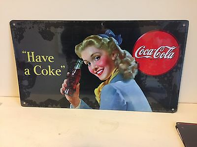 Vintage Coca Cola Tin Sign